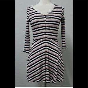 New American Rag Dress Ribbed Buttoned Fit & Flare